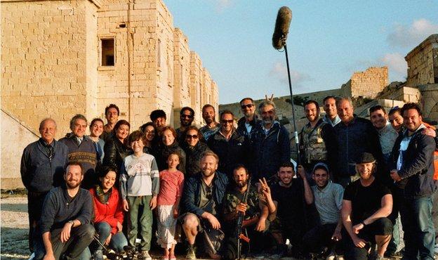 A equipe de filmagem reunida! (foto: Divulgação)