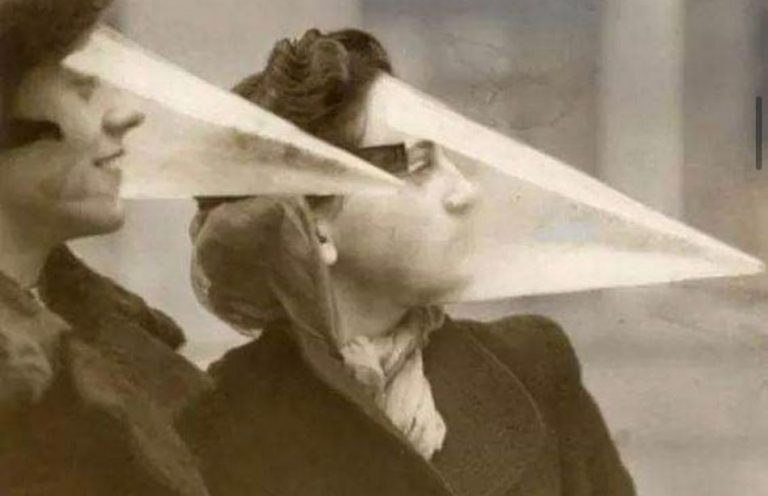 Estranhas máscaras cônicas foram usadas no México durante a Gripe Espanhola?