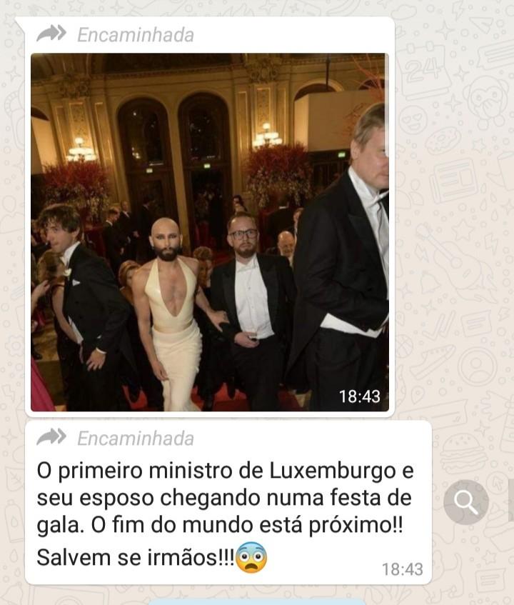 O primeiro-ministro de Luxemburgo chegou em uma festa de gala com o seu marido usando vestido?
