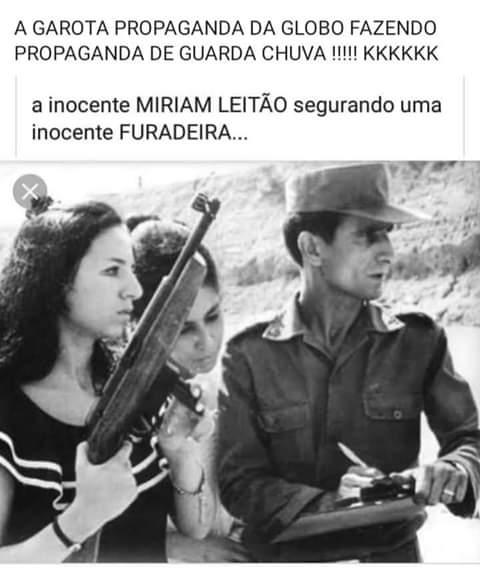 Foto antiga mostra Miriam Leitão treinando com uma arma na juventude! Será verdade?