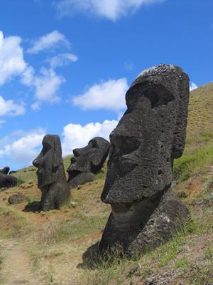 moai_famosa - foto famosa mostra apenas as cabeças!