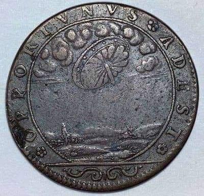 Será que essa moeda é mesmo francesa e possui a figura de um OVNI?