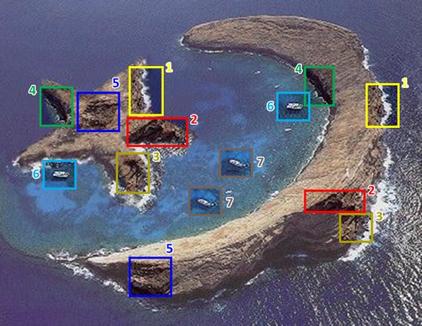 Pedaços utilizados para criar a ilha falsa! (contribuição de Luiz Fernando Alves)