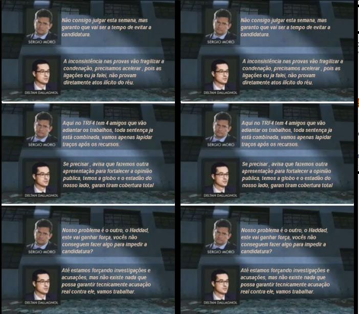 Trecho de conversa vazada entre Moro e Dallagnol prova que eles tramavam barrar a candidatura de Haddad?