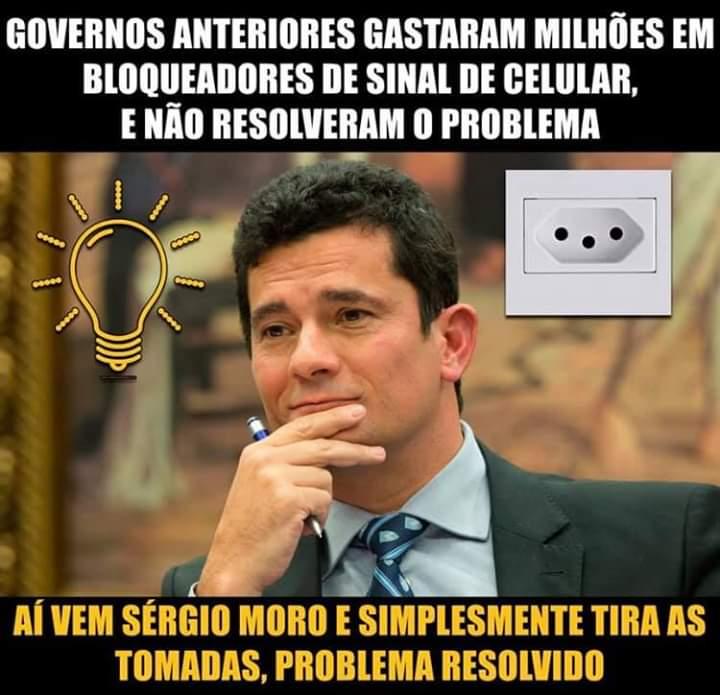 O ministro Sérgio Moro mandou retirar as tomadas dos presídios?