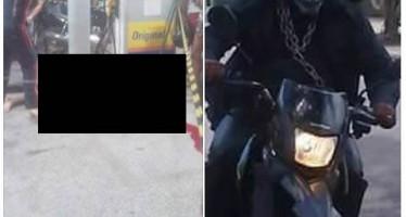 Motoqueiro Fantasma seria o apelido do justiceiro mascarado que está resolvendo crimes em Teresina! Será? (fotos: Reprodução/Facebook)