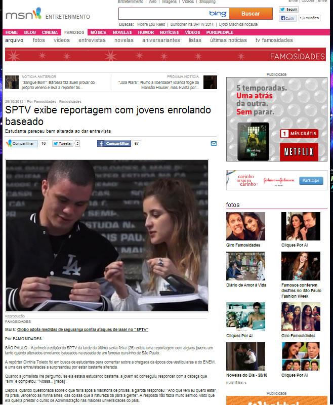 Site de noticias MSN acabou caindo na pegadinha! (foto: Reprodução)