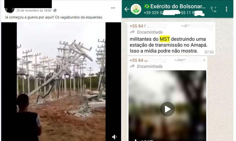 Vídeo mostra o MST destruindo torres de transmissão no Amapá! Será verdade?