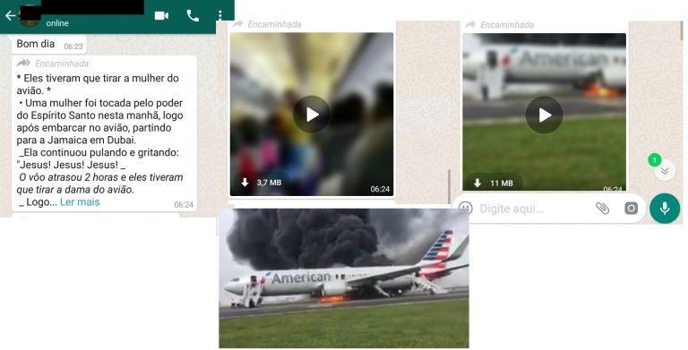 Uma mulher foi avisada pelo Espírito Santo para não embarcar em avião que pegou fogo?