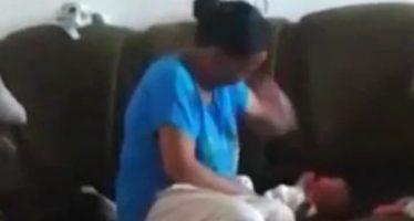 Mulher que espancou criança foi encontrada morta com um corte profundo no pescoço! Será verdade? (foto: Reprodução/Facebook)