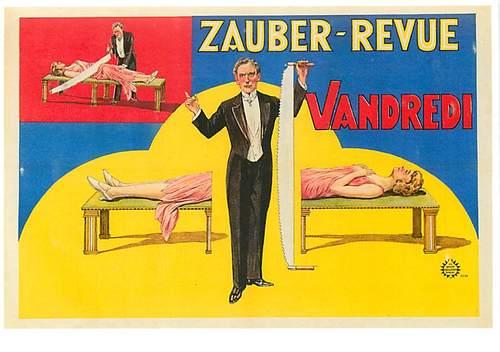 O número da mulher partida ao meio é classico entre os mágicos!(Foto: Reprodução/eBay)