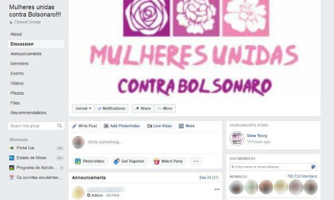 """Site e-farsas afirma que o grupo """"Mulheres Unidas Contra Bolsonaro"""" não é a antiga """"Gina Indelicada"""""""