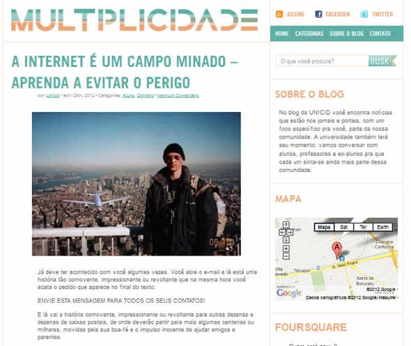 Blog da UNICID entrevista o E-farsas!