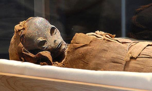 Mumia ET encontrada no Egito!