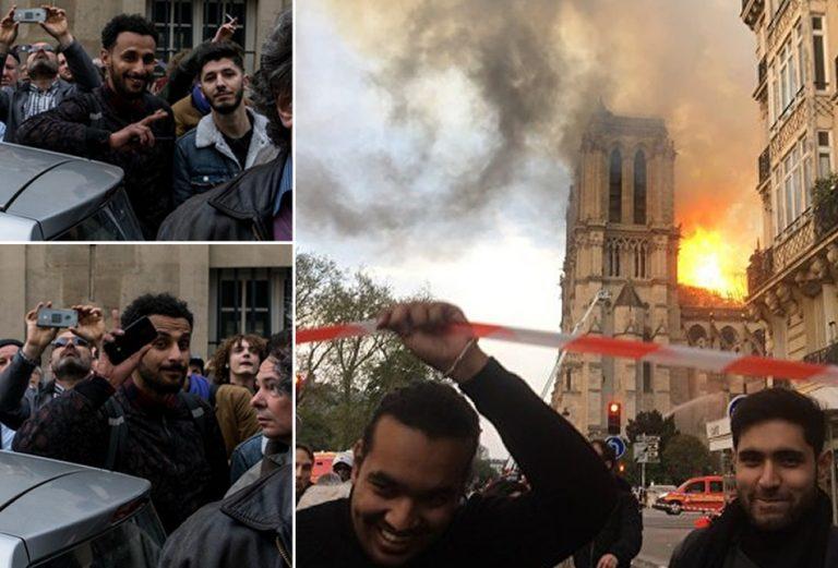 Muçulmanos comemoraram o incêndio da Catedral de Notre-Dame?