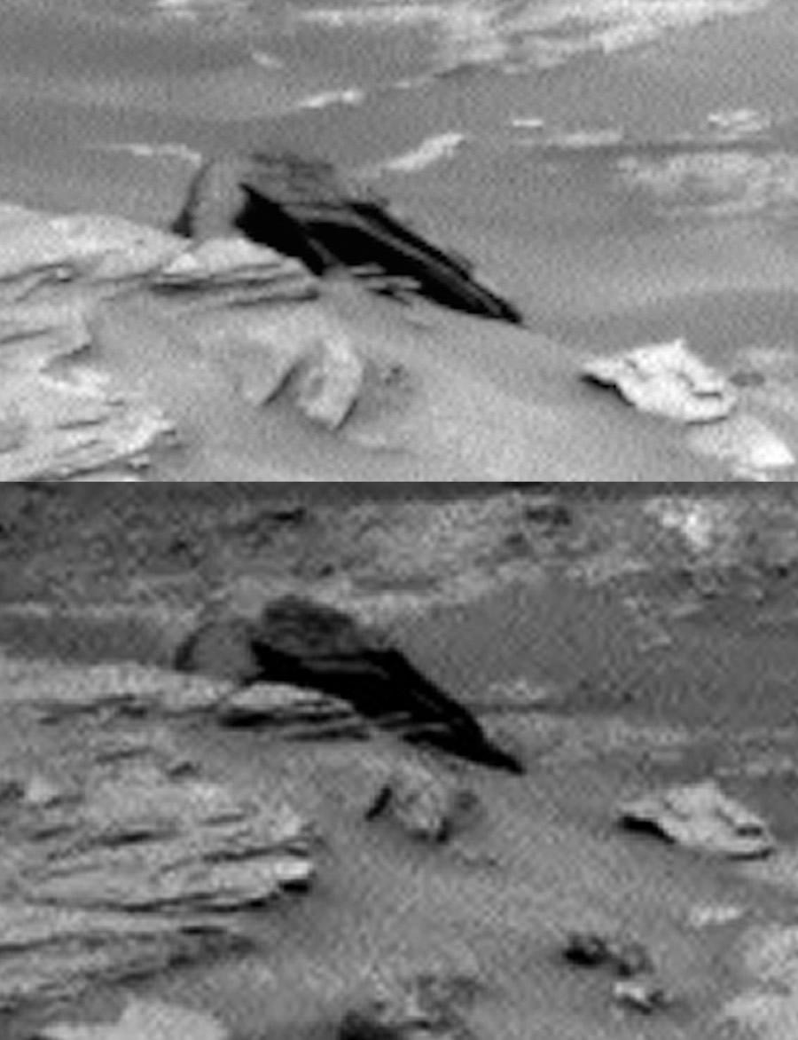 Acima: Foto espalhada pela web. Abaixo, foto recortada da NASA!