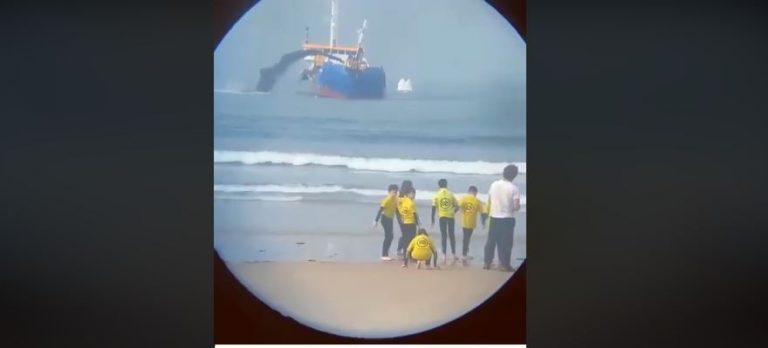 Navio da Venezuela despejou petróleo no mar para prejudicar o presidente Bolsonaro?