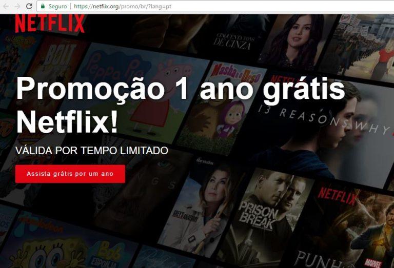 Netflix está dando 1 ano de graça? Olha o golpe!