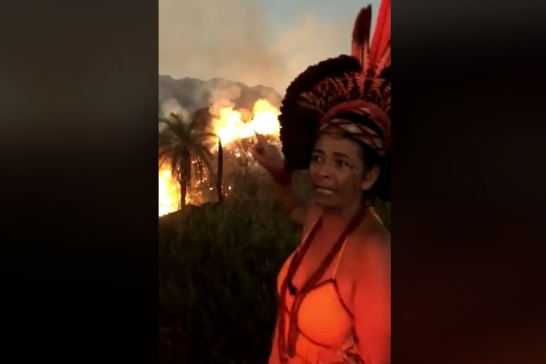 Baderneiros petistas atearam fogo em aldeia indígena na Amazônia?