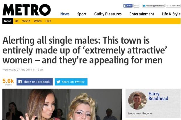 E o britânico Metro publicou artigo semelhante!