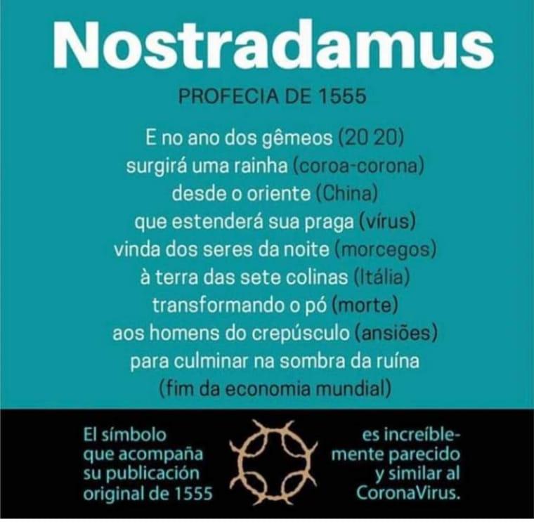 Nostradamus previu o surto de coronavírus em 1555?