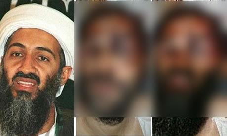 Montagem com a foto de Osama Bin Laden