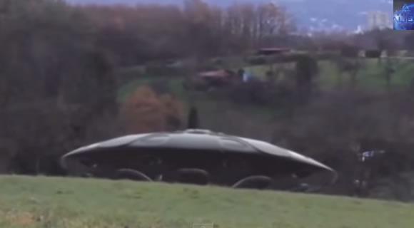 Nave alienígena flagrada na Alemanha! Verdade ou farsa? (foto: Reprodução/YouTube)