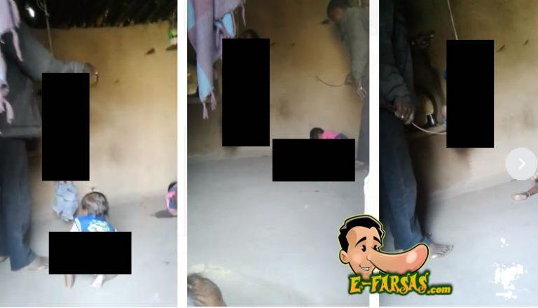 Pai espanca e pendura filhos pelo pescoço! Adianta denunciar esse vídeo espalhado no WhatsApp?