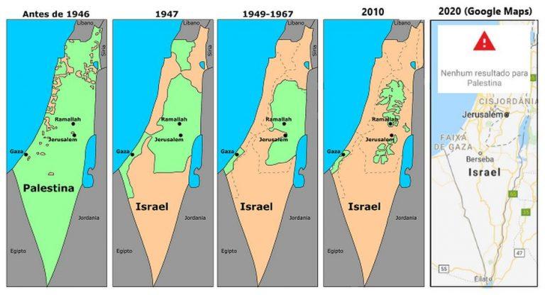 Será verdade que a Palestina foi removida do Google Maps?