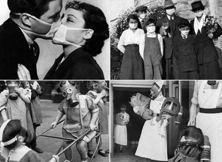 Fotos mostram o comportamento da população durante pandemias anteriores?