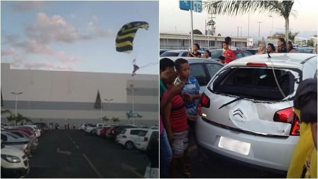 Tragédia: Chegada do Papai Noel de paraquedas em Mogi das Cruzes!