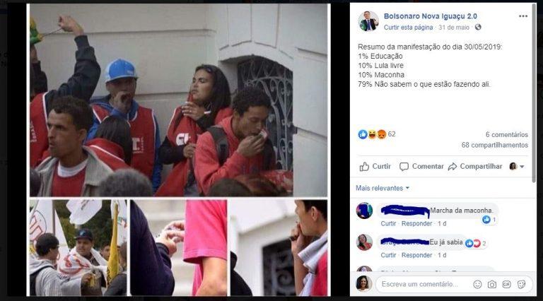 Manifestantes do PT foram flagrados fumando maconha durante passeata de 30/05/2019!