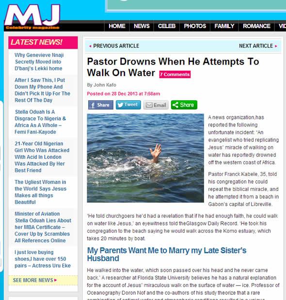 Reprodução da matéria de 2006 desenterrada em dezembro de 2013 pelo site de fofocas MJ Celebrity Magazine!