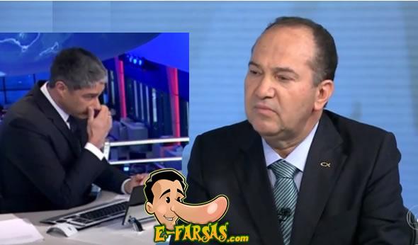 Candidato deixa escapar um peido durante entrevista ao Jornal Nacional! Será verdade? (foto: reprodução/Facebook)