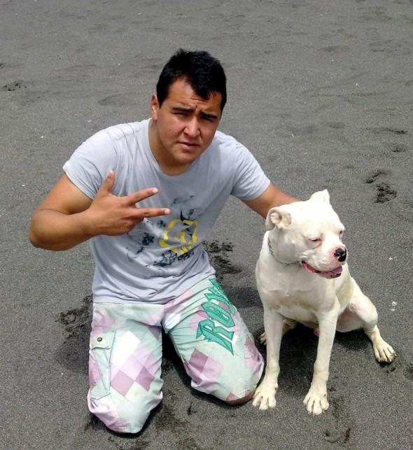 Patricio Millar e seu cachorro! (foto: Reprodução)