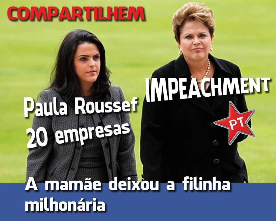 Filha da Presidente seria dona de mais de 20 empresas! Farsa! (foto: Reprodução/Facebook)