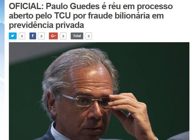 O ministro Paulo Guedes virou réu em processo bilionário do TCU?