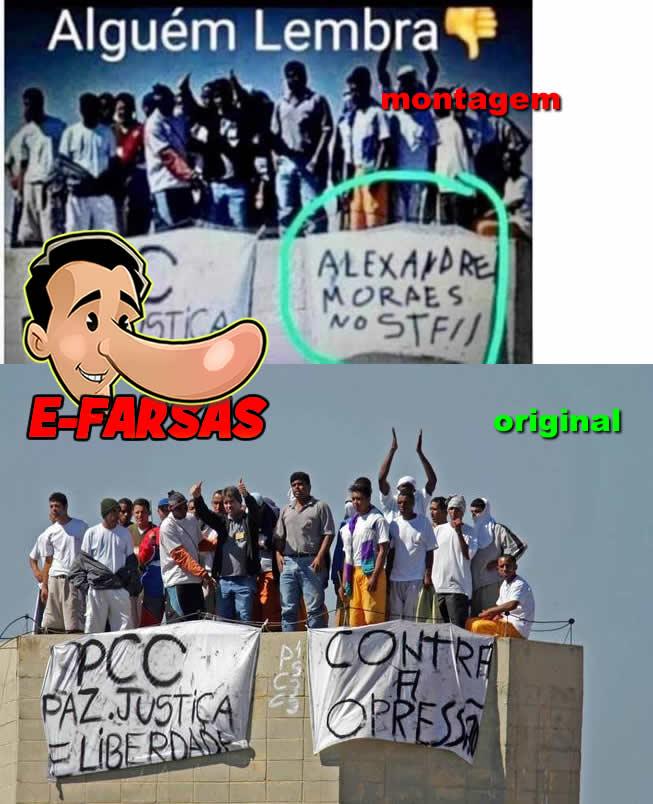 Foto comprova que o ministro Alexandre de Moraes foi advogado do PCC! Será verdade?