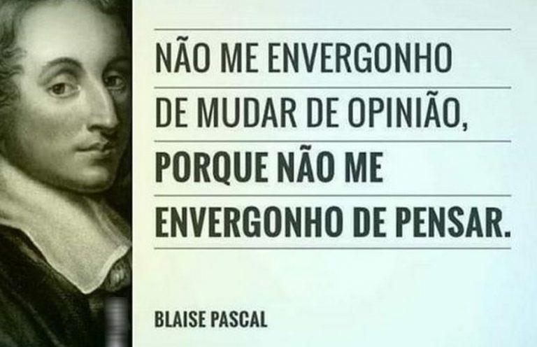 Frase sobre mudança de opinião pertence ao matemático Blaise Pascal?