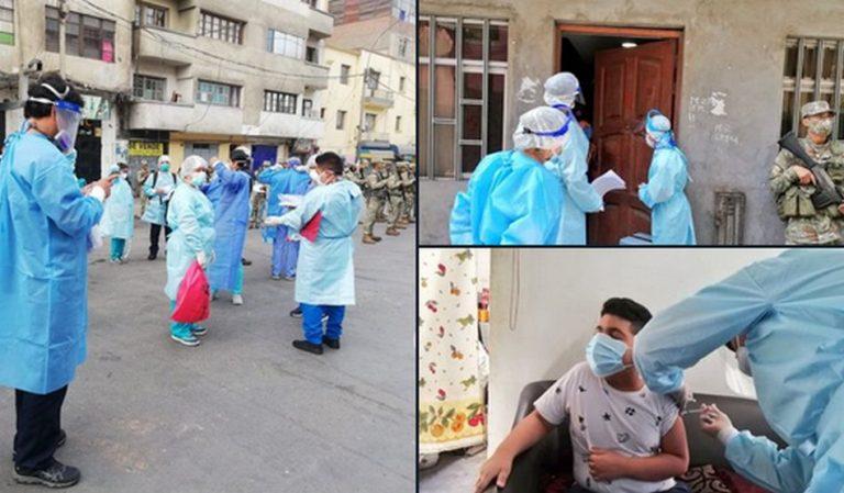 Fotos mostram uma vacinação obrigatória contra a COVID-19 no Peru?