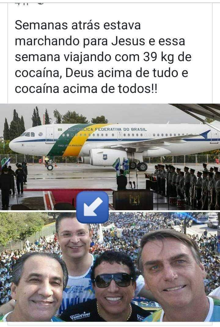 O militar preso com 39 kg de cocaína apareceu em foto ao lado do Bolsonaro na Marcha para Jesus?
