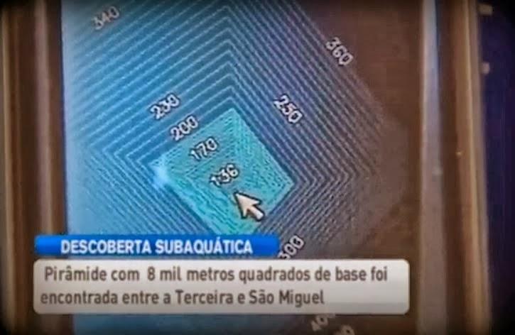 Velejador teria encontrado uma pirâmide submersa! Verdadeiro ou falso? (foto: Reprodução/YouTube)