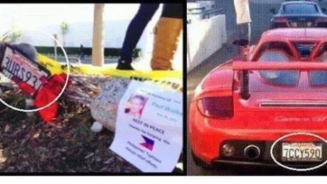Placas diferentes provam que o carro do acidente não seria o mesmo do ator. Verdade ou mentira?