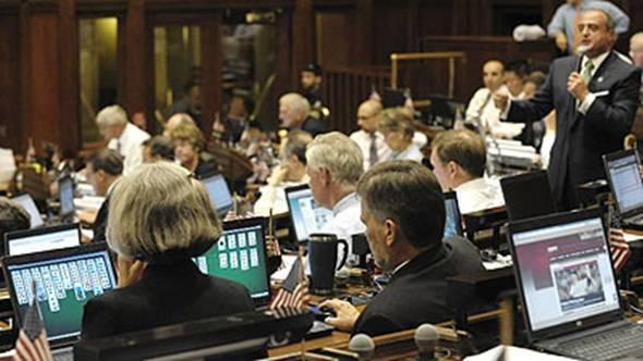 Deputados jogando Paciência na Câmara no EUA