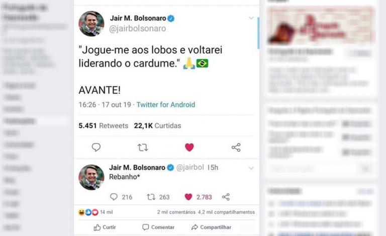 """Será verdade que Jair Bolsonaro disse: """"Jogue-me aos lobos e voltarei liderando o cardume""""?"""
