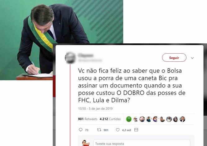 A cerimônia de posse de Bolsonaro custou o dobro das anteriores?