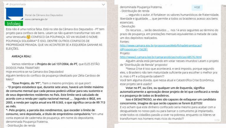 Fernando Haddad e Ciro Gomes vão confiscar a poupança dos brasileiros caso sejam eleitos?