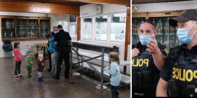 Uma mulher foi presa na frente dos filhos no Canadá por não apresentar o passaporte sanitário?