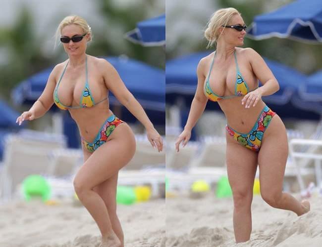 Presidente da Croácia desfila com suas curvas de biquíni na praia! Será verdade? (fotos: Reprodução/Facebook)
