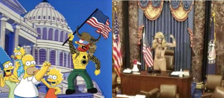 O desenho animado Os Simpsons previu a invasão ao Capitólio nos EUA?